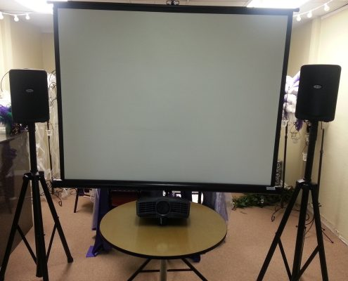 Premier Party Rentals - Projector and Screen